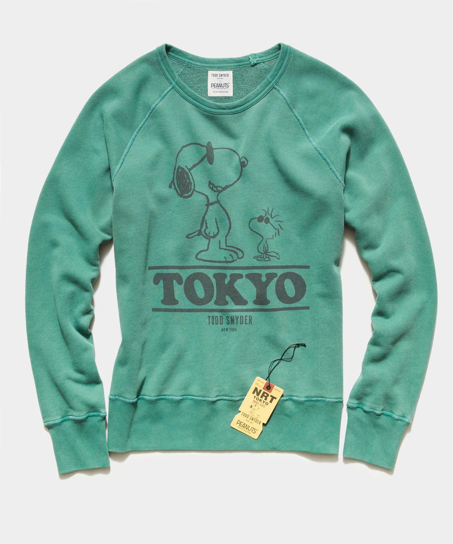 Peanuts City Collection Tokyo Crewneck Sweatshirt in Green