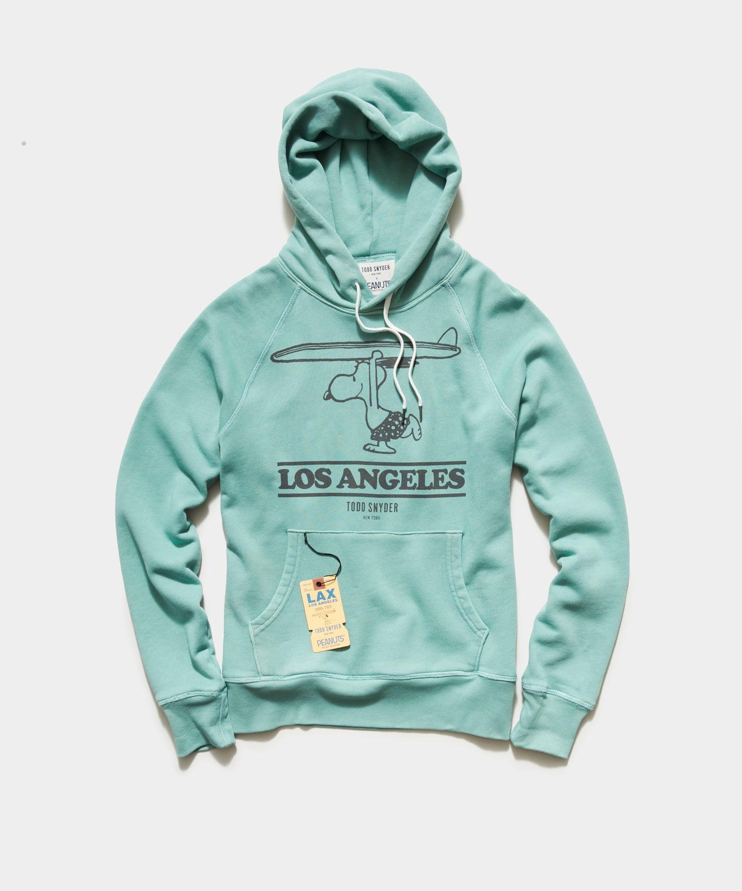 Peanuts City Collection Los Angeles Hoodie in Aqua