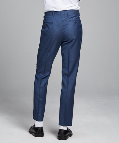 Sutton Stretch Tropical Wool Suit Trouser In Petrol Blue