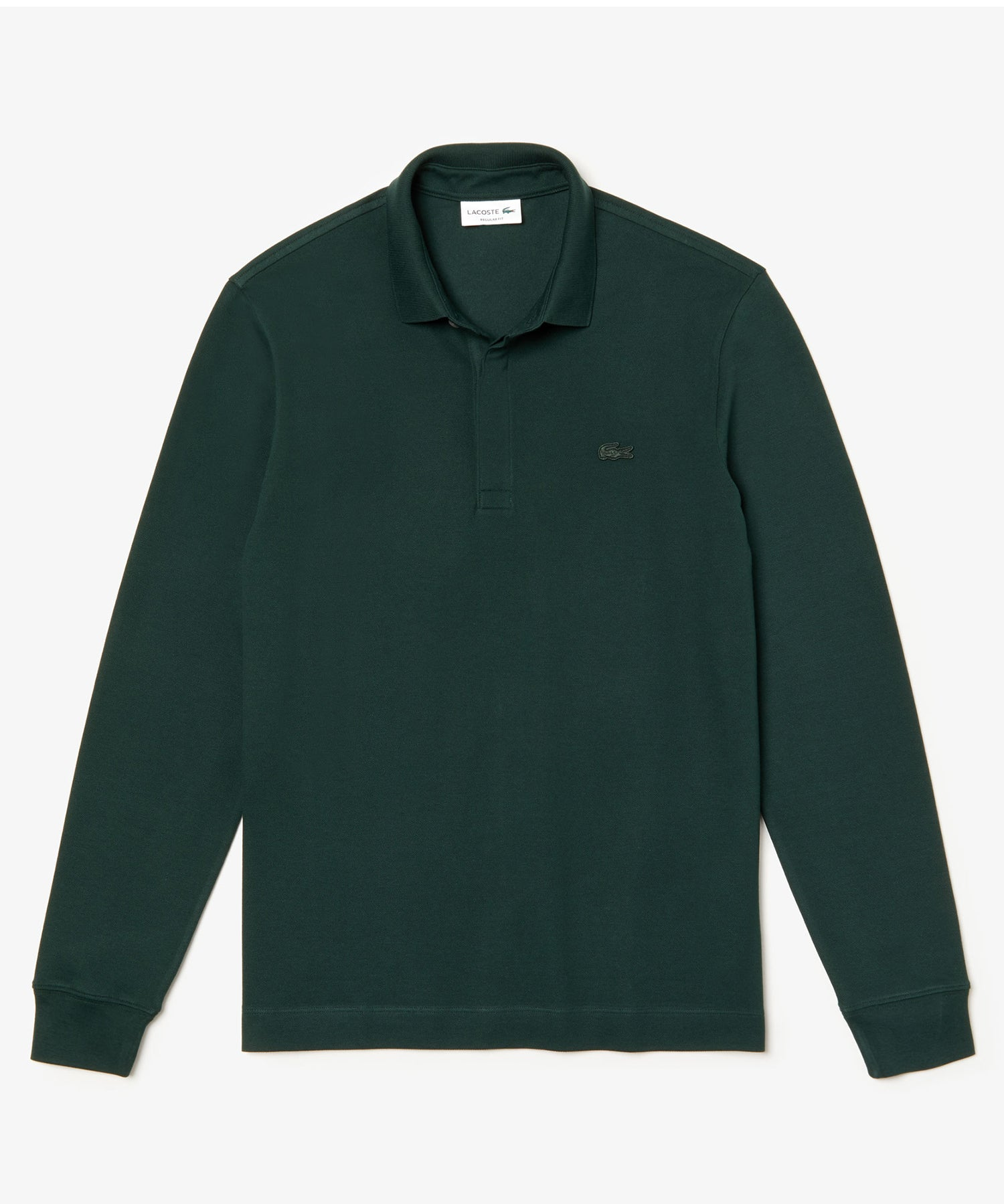 Lacoste Regular Fit Long-Sleeve Cotton Paris Polo in Green