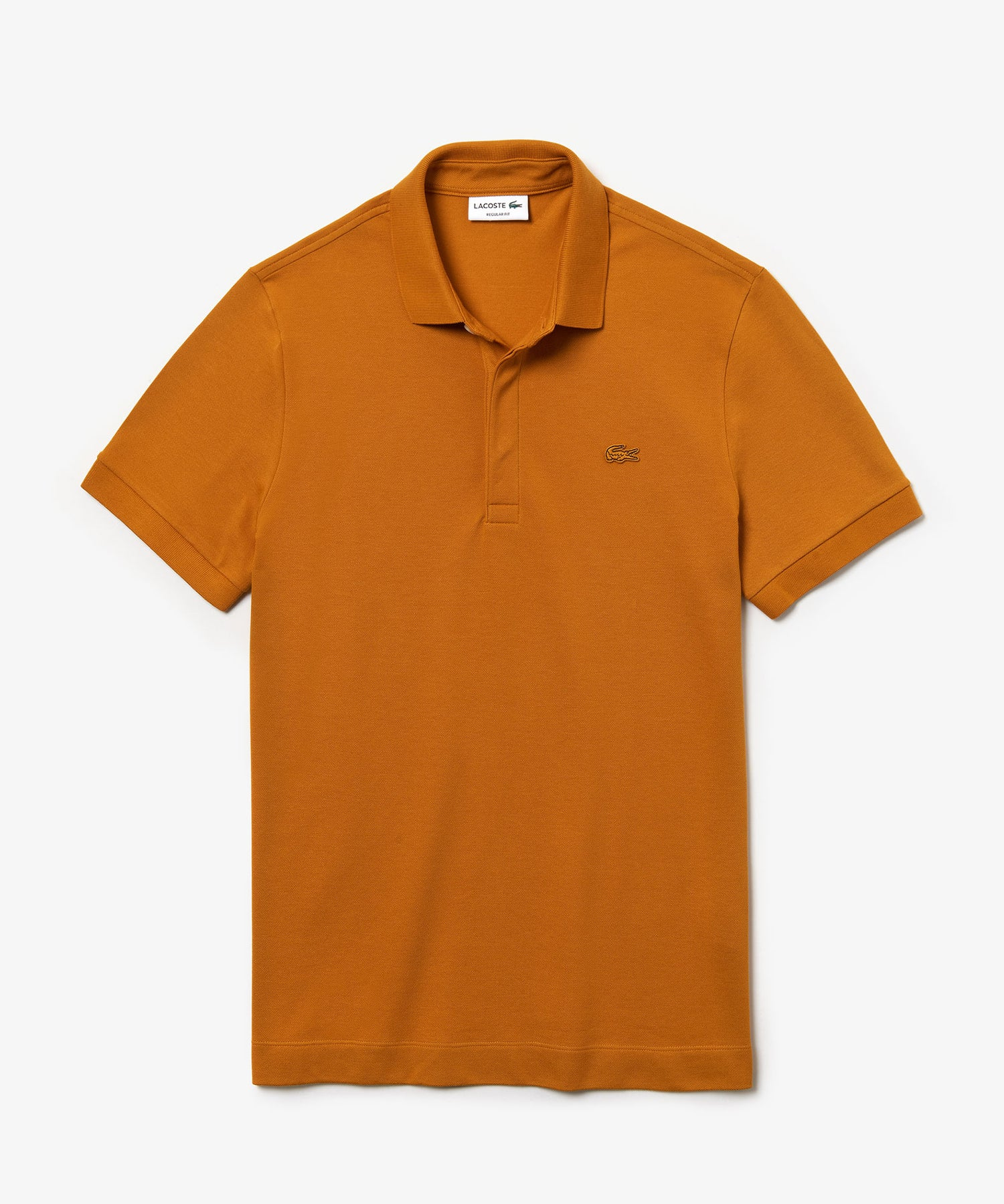 Lacoste Regular Fit Stretch Cotton Paris Polo in Orange