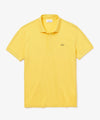 Lacoste Short Sleeve Regular Fit Stretch Cotton Paris Polo in Yellow