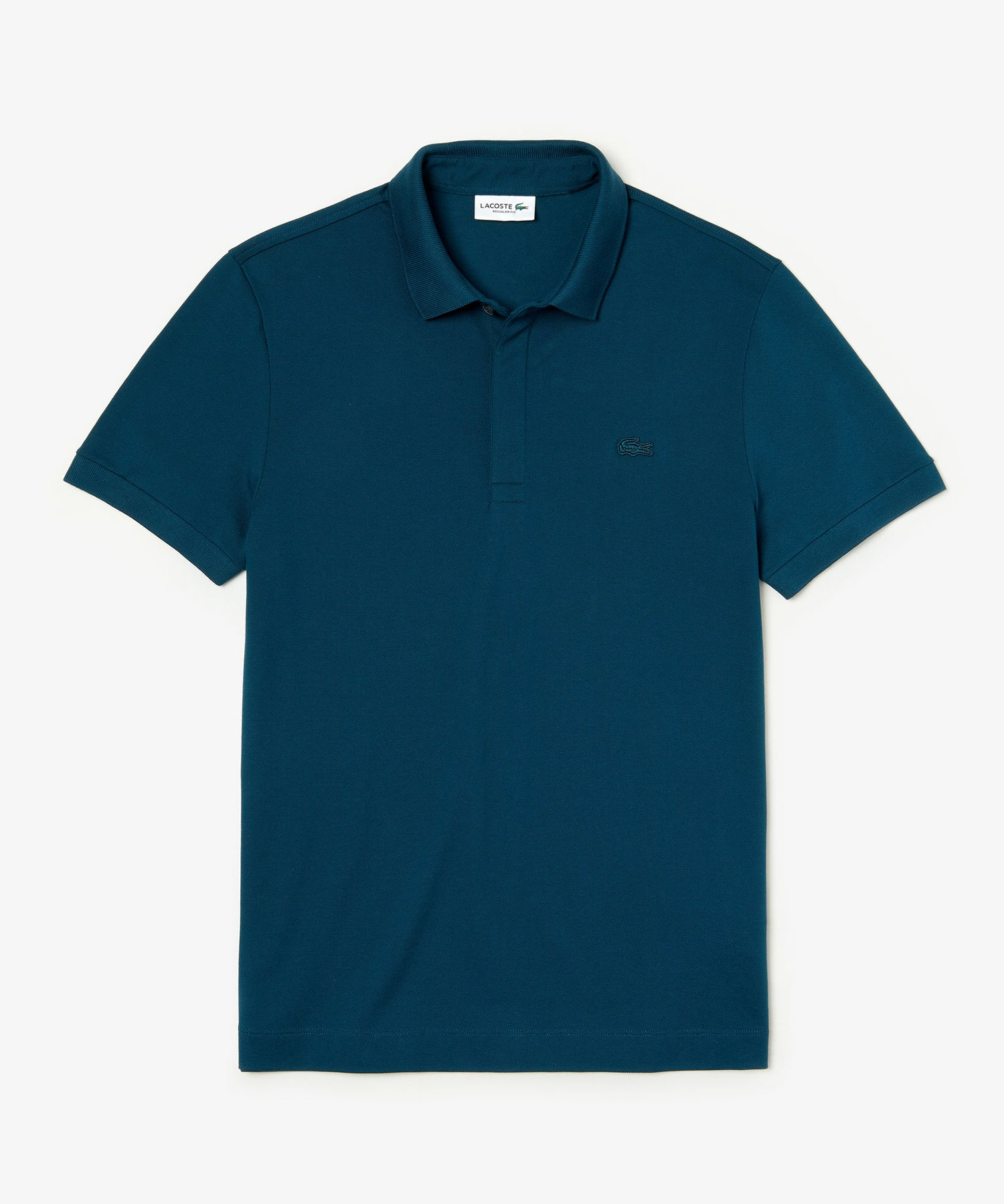 Lacoste Regular Fit Stretch Cotton Paris Polo in Blue