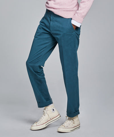 Straight Fit Tab Front Stretch Chino in Stargazer