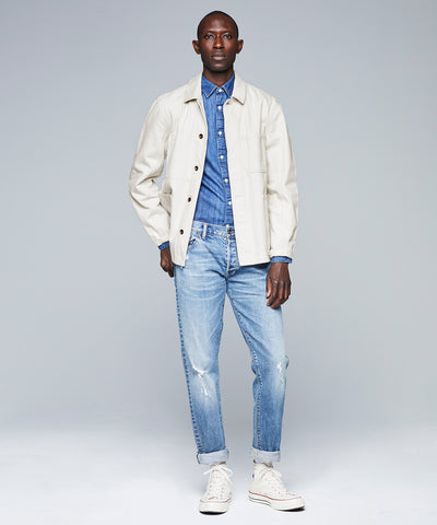 Denim Chore Jacket in Beige