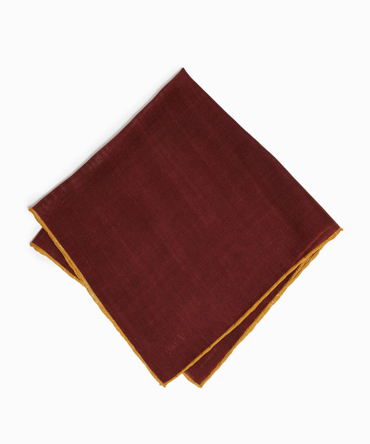 Drake's Tipped Pocket Square in Burgundy