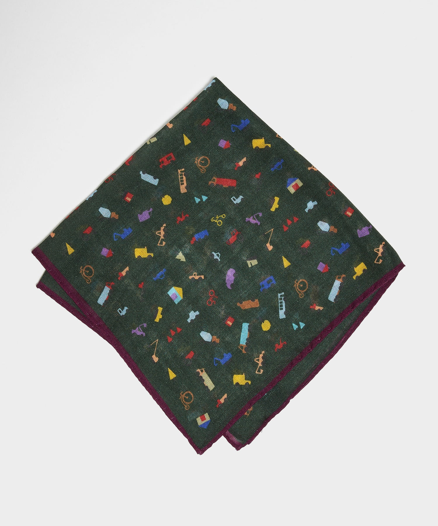 Drake's Cars and Trees Pocket Square