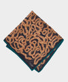 Drake's Snakes Printed Pocket Square in Brown