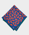 Drake's Watermelon Slices Printed Pocket Square in Blue