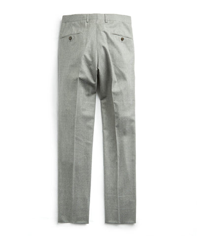 Stretch Wool Tab Front Trouser in Light Grey