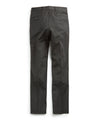 Stretch Wool Tab Front Trouser in Charcoal
