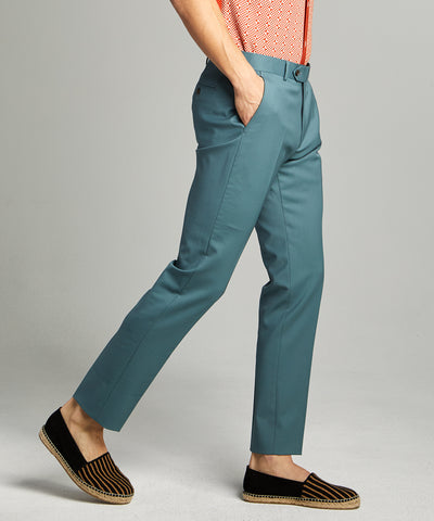Sutton Wool Gabardine Suit Trouser in Aqua