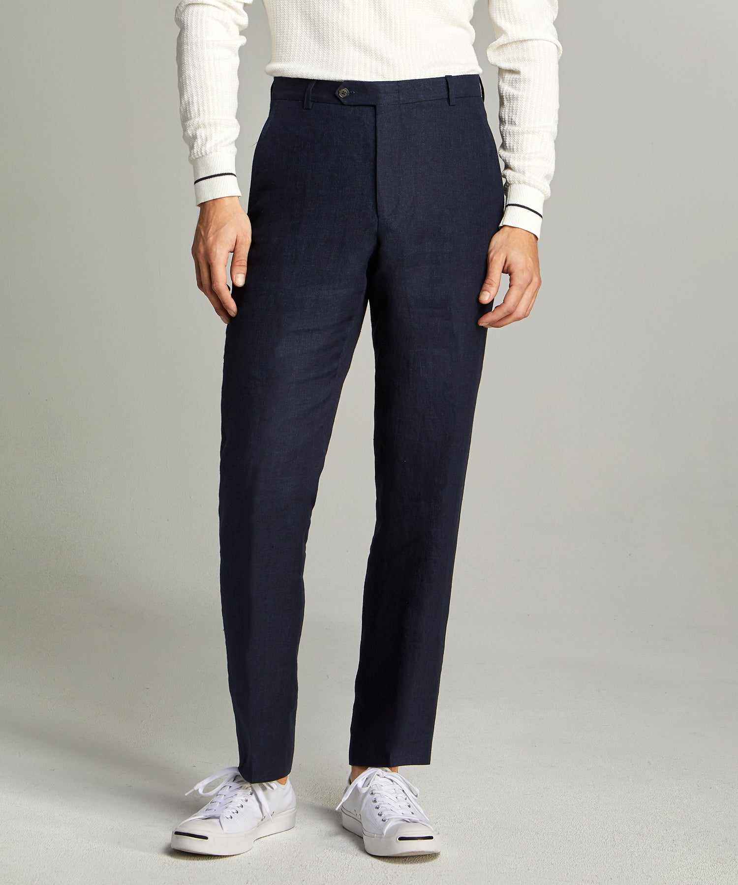 Linen Sack Suit Trouser in Indigo