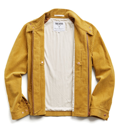 Exclusive Todd Snyder + Private White Corduroy Barracuda Jacket in Gold