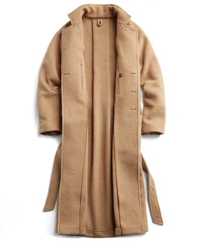 Exclusive Todd Snyder + Private White Wrap Topcoat in Camel