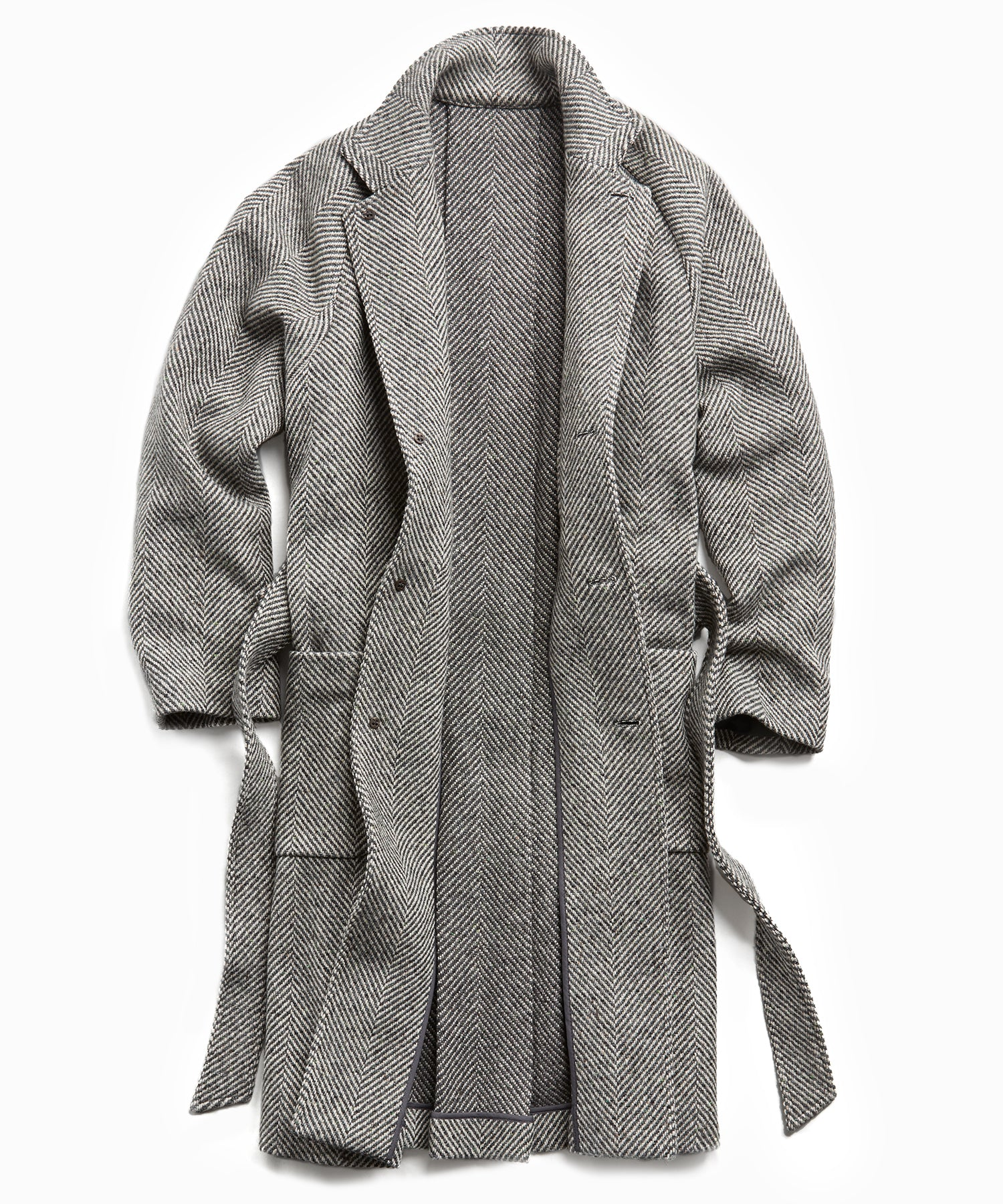 Exclusive Todd Snyder + Private White Herringbone Family Coat