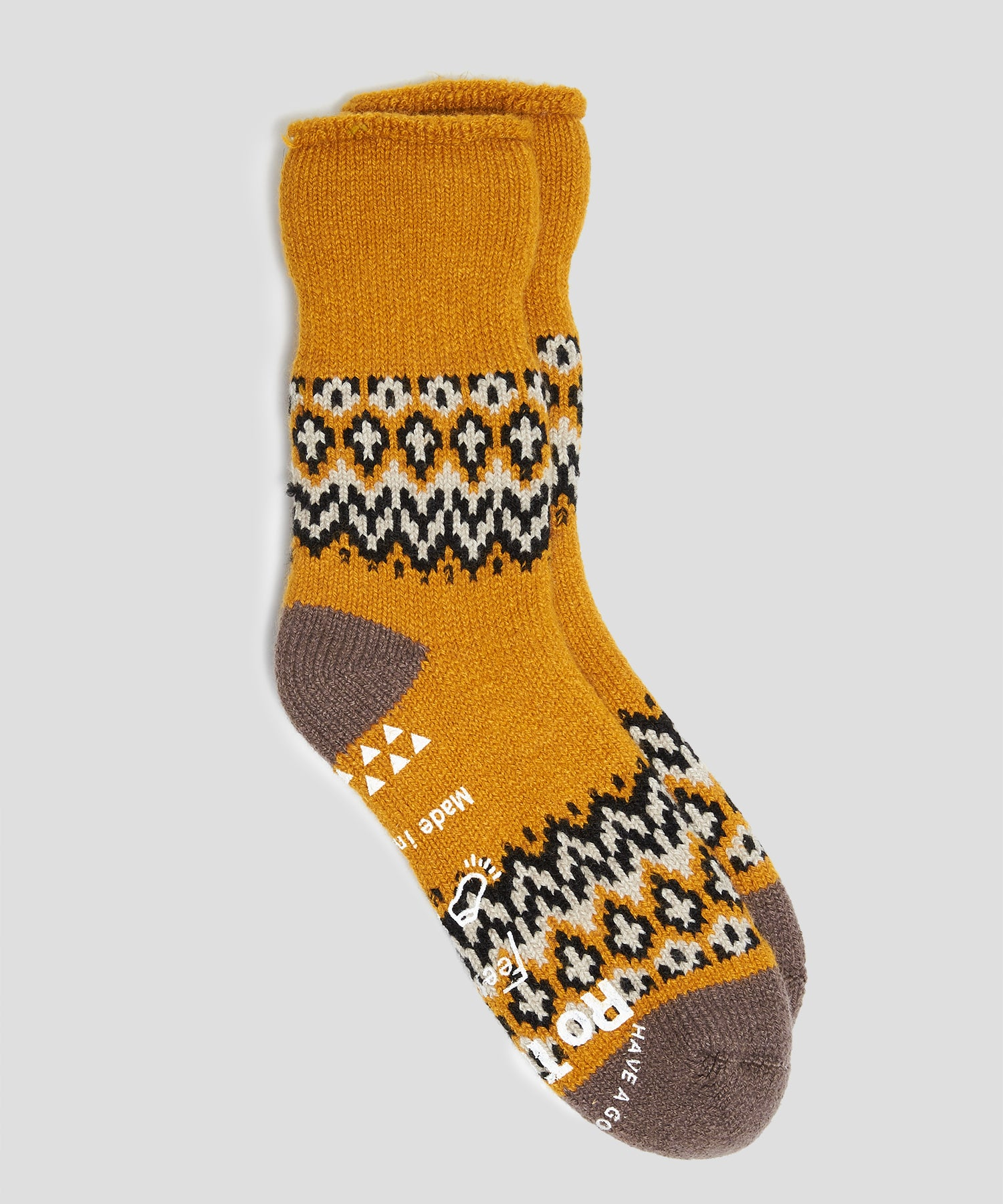 RoToTo Comfy Nordic Room Socks in Yellow