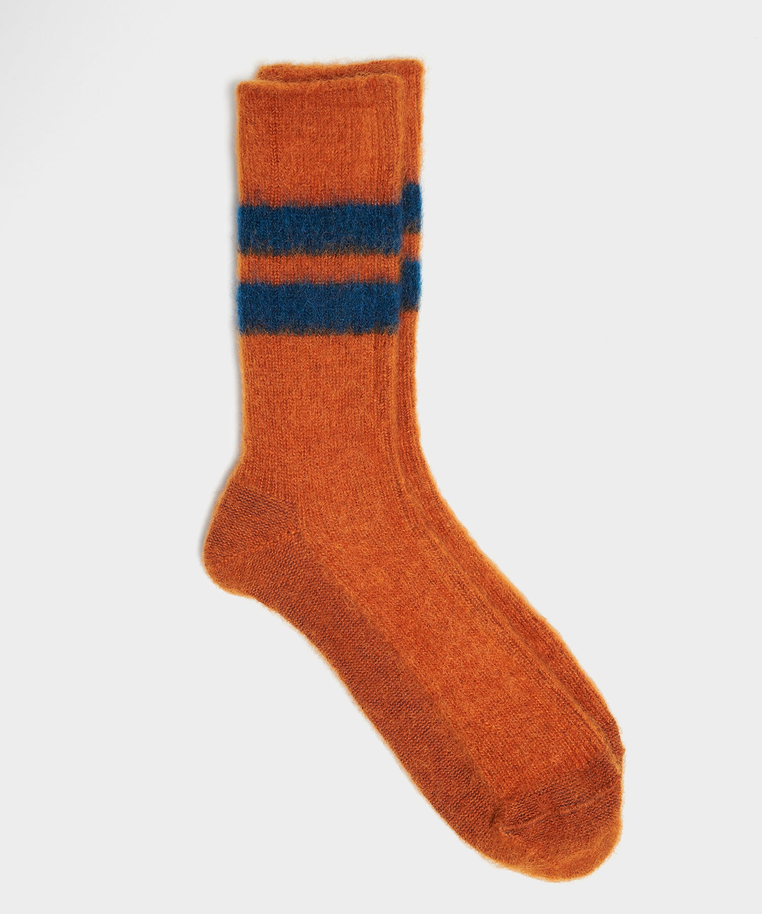 RoToTo Reversible Brushed Mohair Sock In Orange