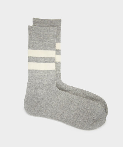 RoToTo Organic Cotton Special Trio Sock in Mix Grey