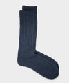Rototo Loose Pile Sock in Mix Navy