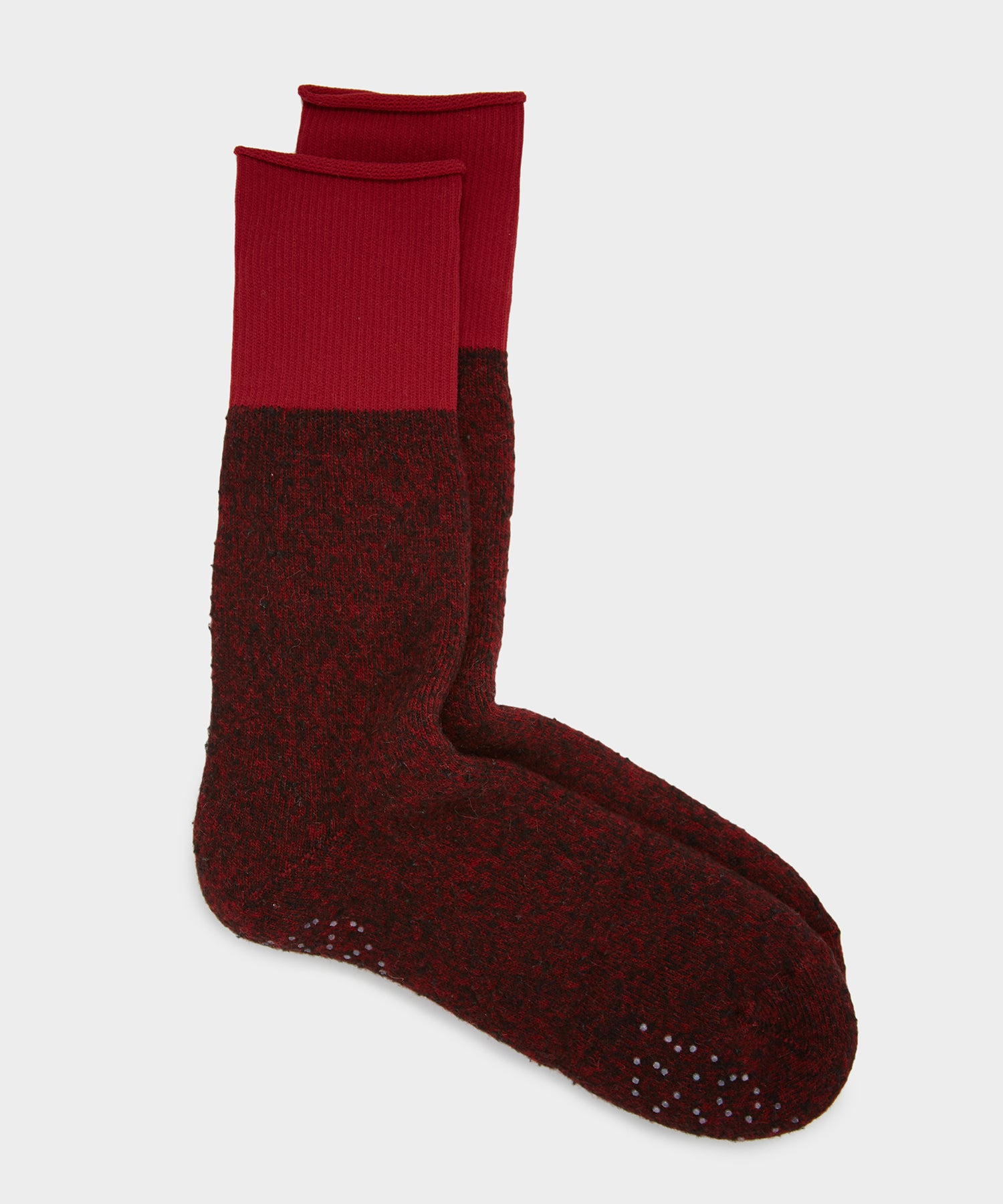 RoToTo Thermal Fleece Sock In Red