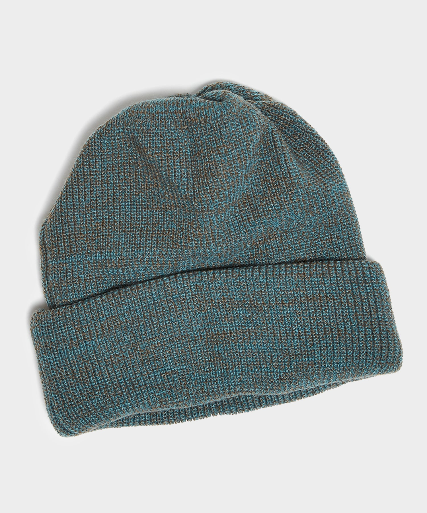 RoToTo Bulky Watchcap Beanie in Light Blue/Mocha