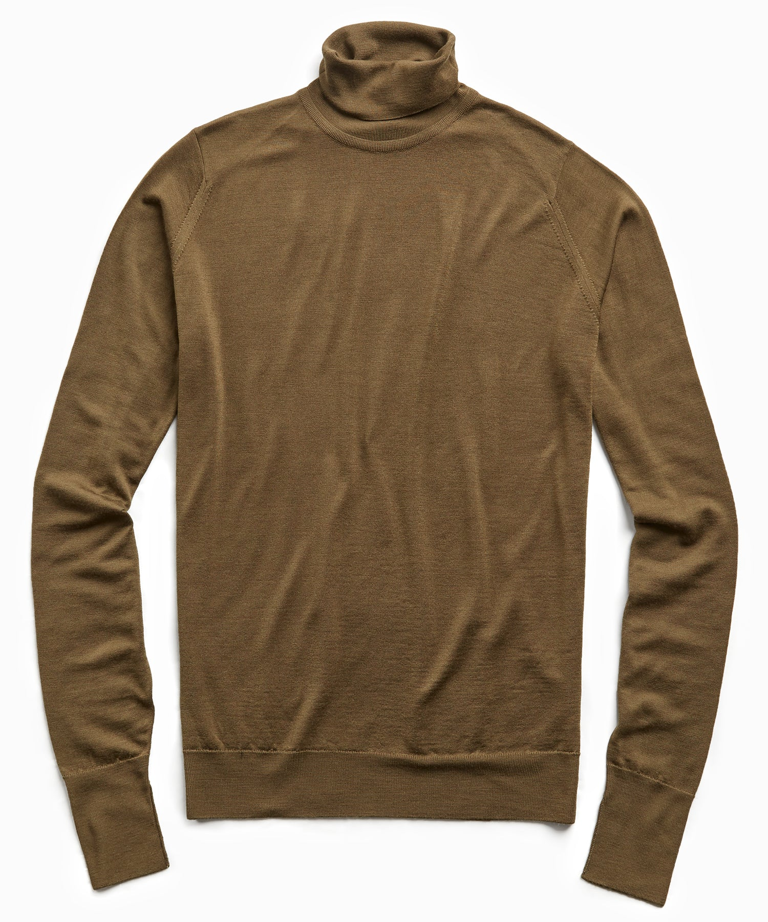 John Smedley Easy Fit Turtleneck in Khaki