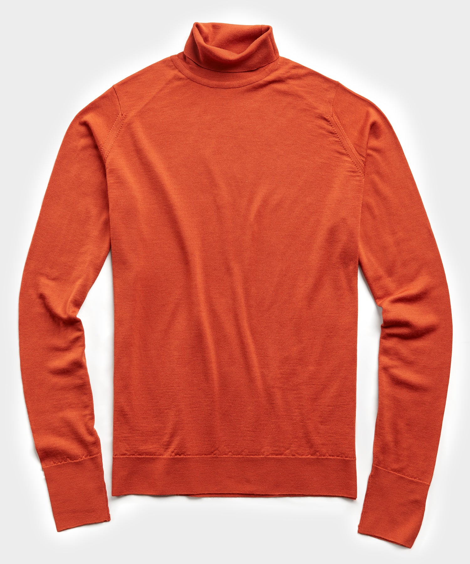 John Smedley Easy Fit Turtleneck in Orange
