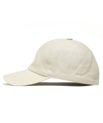Lock and Co + Todd Snyder Linen Rimini Baseball Cap in Natural