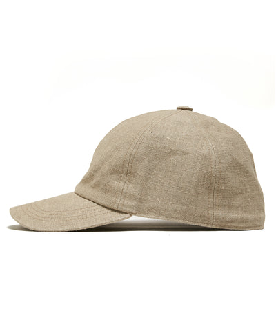 Lock and Co + Todd Snyder Linen Rimini Baseball Cap in Oatmeal