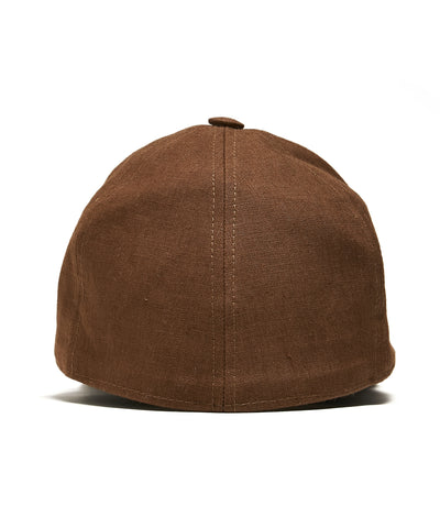 Lock and Co + Todd Snyder Linen Rimini Baseball Cap in Brown