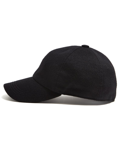 Lock & Co. Rimini Wool/Alpaca Dad Hat in Black