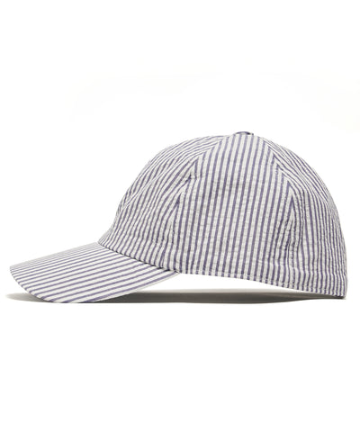 Lock and Co + Todd Snyder Seersucker Rimini Baseball Cap in Navy