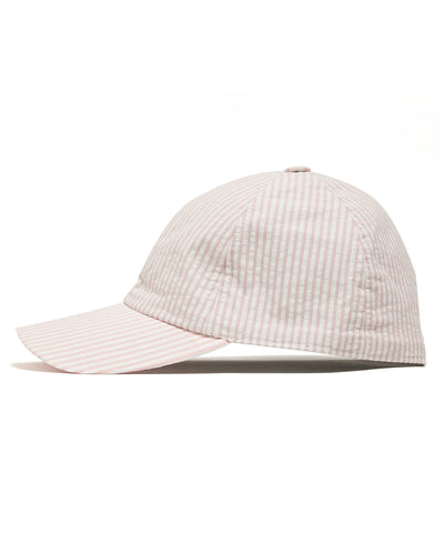 Lock and Co + Todd Snyder Seersucker Rimini Baseball Cap in Pink