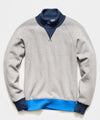 Colorblock Turtlenck Sweatshirt in Light Grey Mix