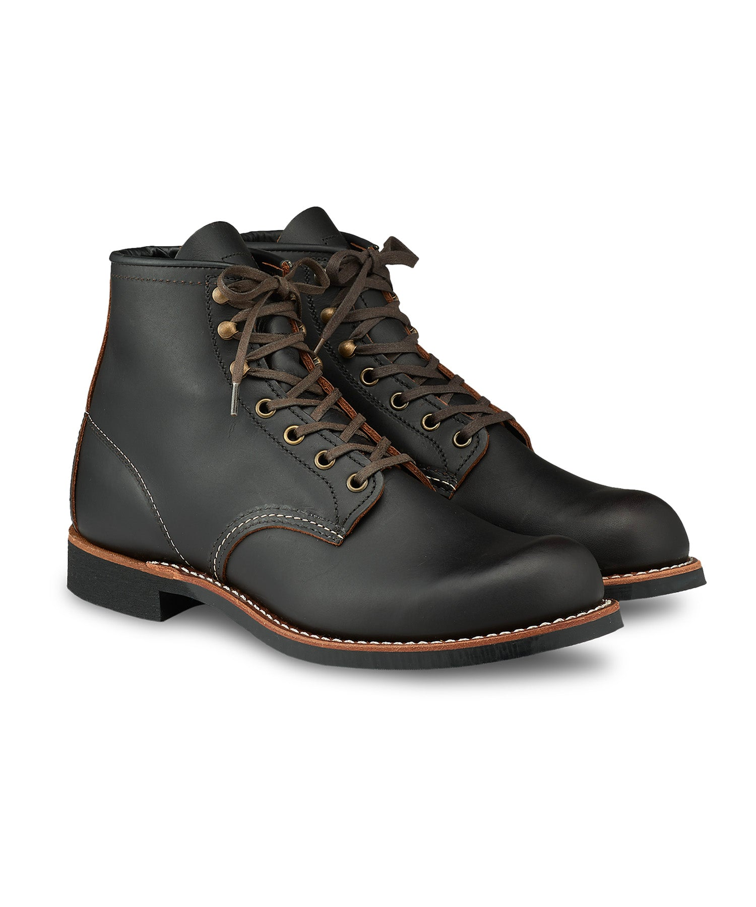 "Red Wing 3345 Blacksmith 6"" Boot in Black Prairie Leather"