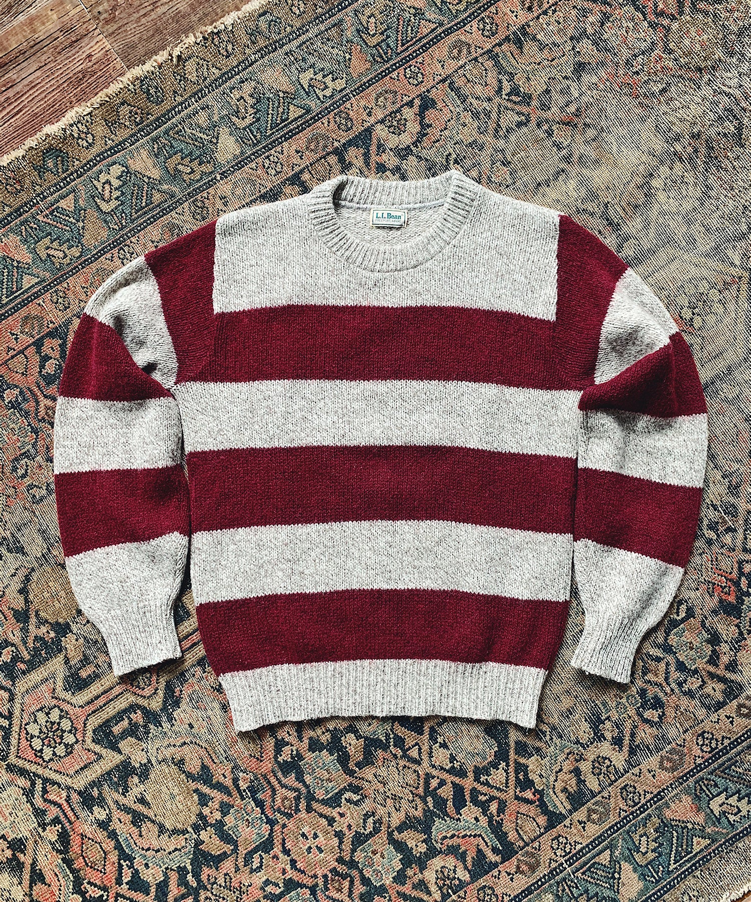 Item #15 - Todd Snyder x Wooden Sleepers 1980's Ragg Wool Sweater in Red & White Stripe - SOLD OUT
