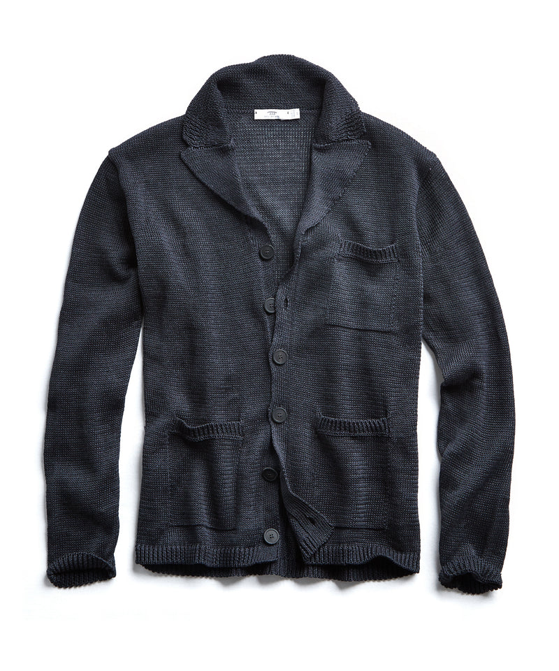 Inis Meain Linen Pub Jacket in Charcoal