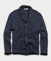 Inis Meain Aran Cable Button Front Pub Jacket