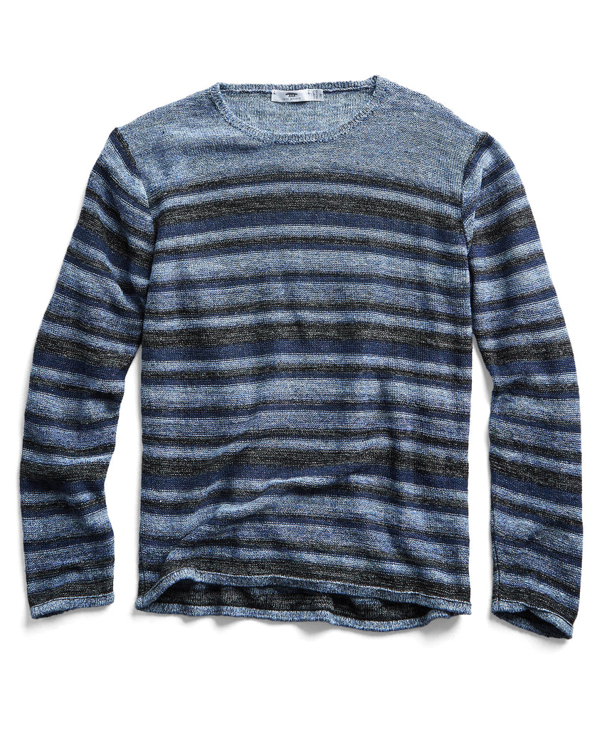 Inis Meain Linen Sweater in Blue