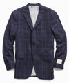 Wool Windowpane Sutton Suit in Navy