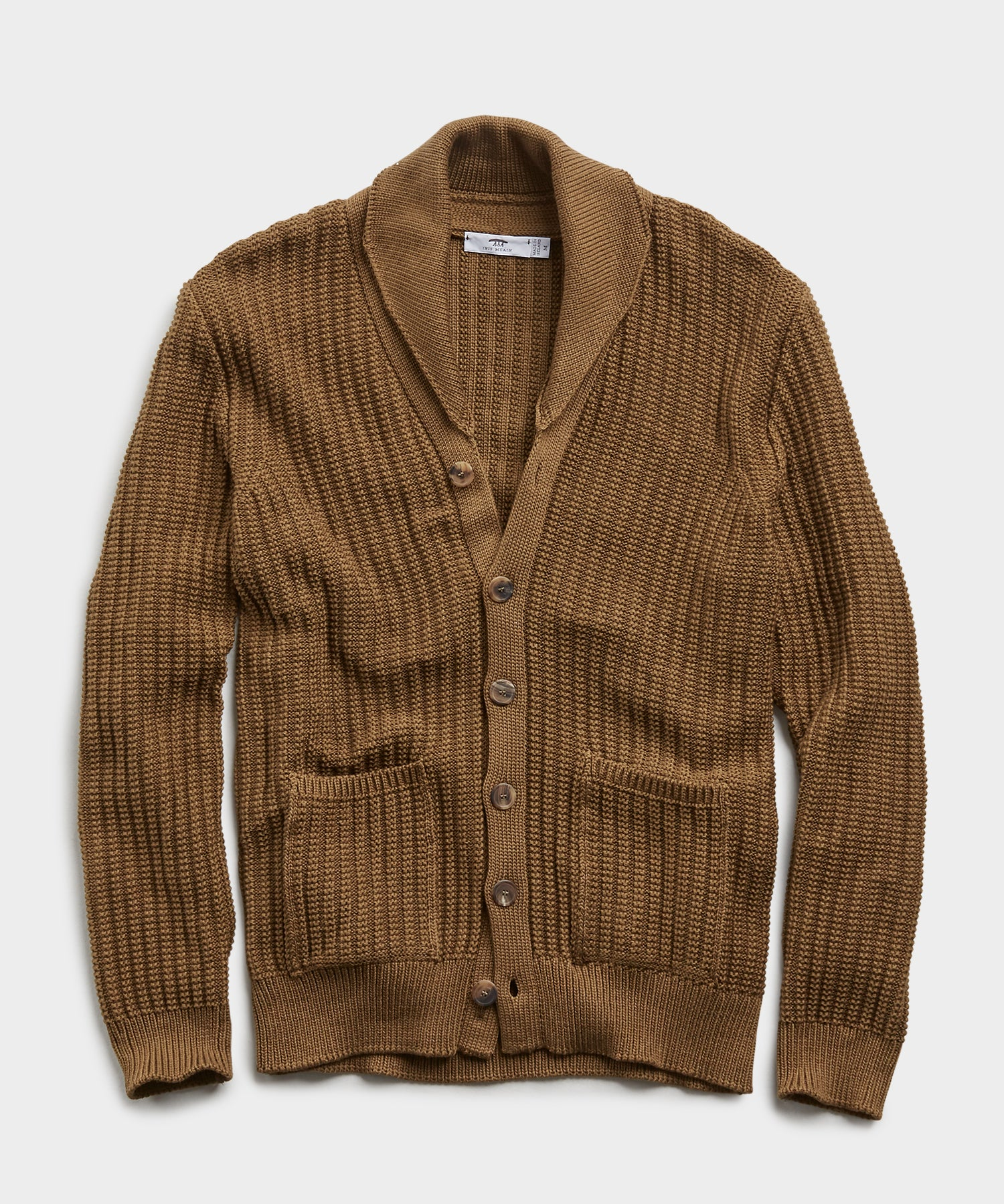 Inis Meain Beach Cardigan in Olive