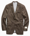 Wool Cashmere Herringbone Sutton Suit Jacket in Olive