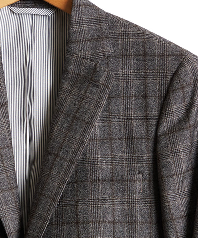 Wool Glen Plaid Sutton Suit Jacket in Grey