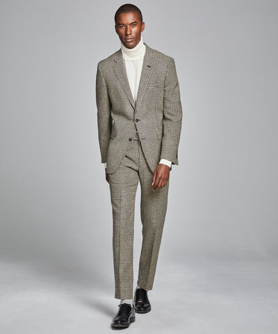 Sutton Glen Plaid Suit Trouser in Wool/Silk