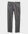 Wool Chalk Stripe Sutton Suit Trouser in Charcoal