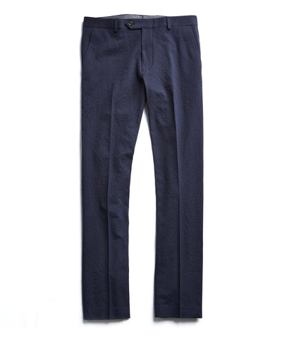 Linen Sutton Suit Trouser in Navy