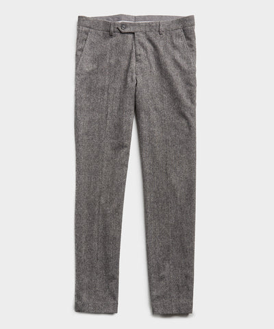 Wool Donegal Sutton Suit Trouser in Grey