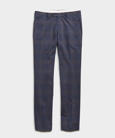 Seersucker Windowpane Tab Dress Trouser