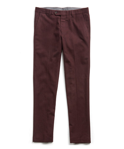 Sutton Wool Donegal Trouser in Burgundy